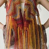 Одежда ручной работы. Ярмарка Мастеров - ручная работа Жилет в стиле нео-хиппи из Кид Мохера. Handmade.