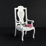 Мебель для кукол ручной работы. Ярмарка Мастеров - ручная работа Кресло №3 для кукол форматов 1:6, 1:4 МСД, 1:3 СД. Handmade.