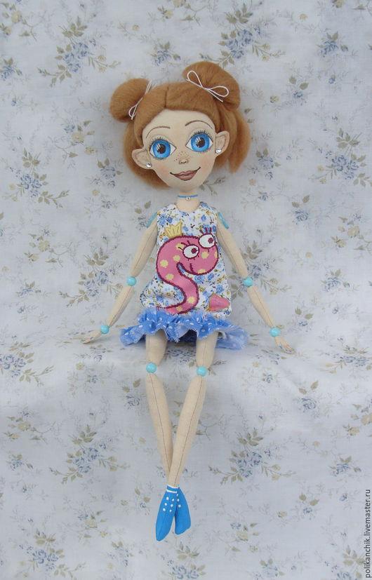 Коллекционные куклы ручной работы. Ярмарка Мастеров - ручная работа. Купить Кукла Поликаночка. Handmade. Текстильная кукла, авторская кукла