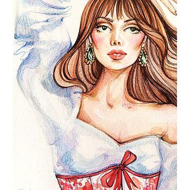Дизайн и реклама ручной работы. Ярмарка Мастеров - ручная работа Fashion sketch. Handmade.