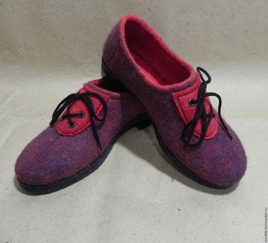 """Обувь ручной работы. Ярмарка Мастеров - ручная работа. Купить Туфли валяные """"Бургундское вино"""". Handmade. Бордовый, элегантные туфли"""