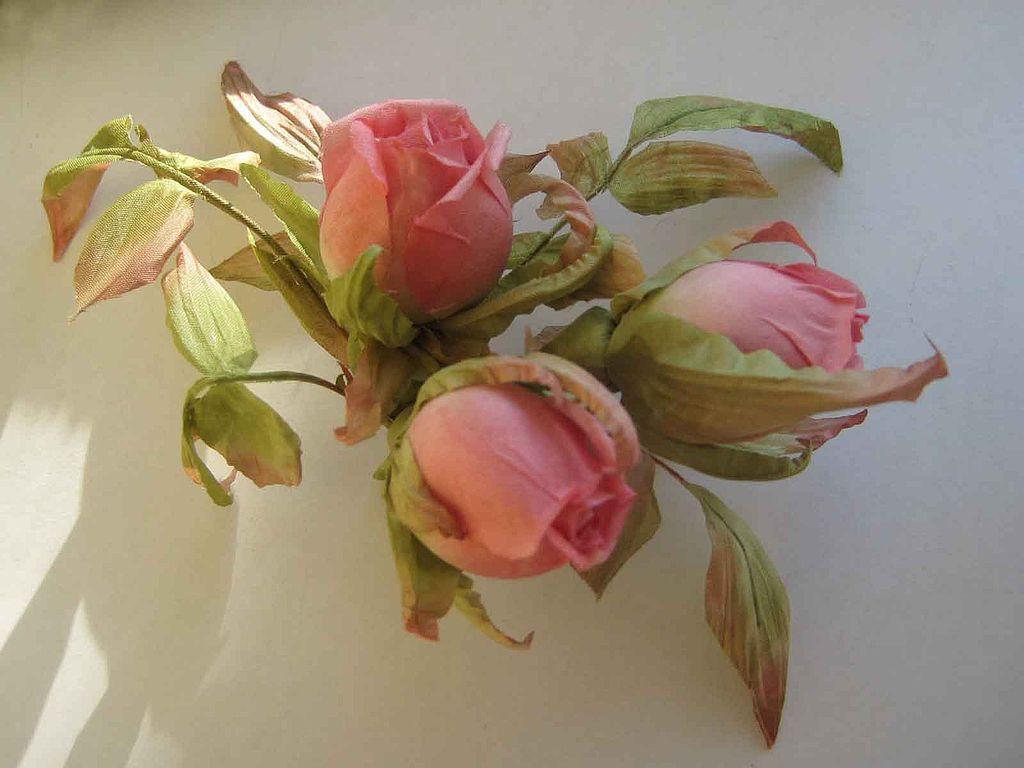 Silk Flowers Ooch Hairpin Pink Buds Luxurydian Silk Shop