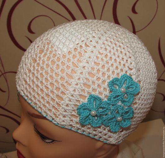 Шапки и шарфы ручной работы. Ярмарка Мастеров - ручная работа. Купить Летняя шапочка для девочки 3-6 лет. Handmade.