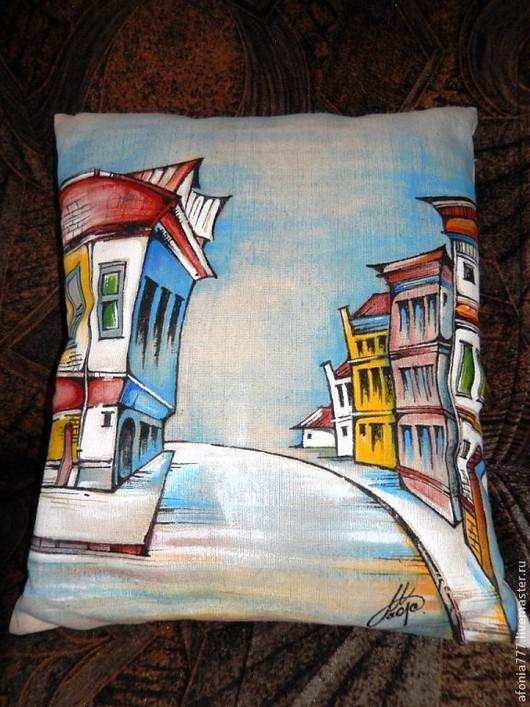 """Текстиль, ковры ручной работы. Ярмарка Мастеров - ручная работа. Купить """"Цветной бульвар"""". Handmade. Разноцветный, цветной, натуральный лен"""