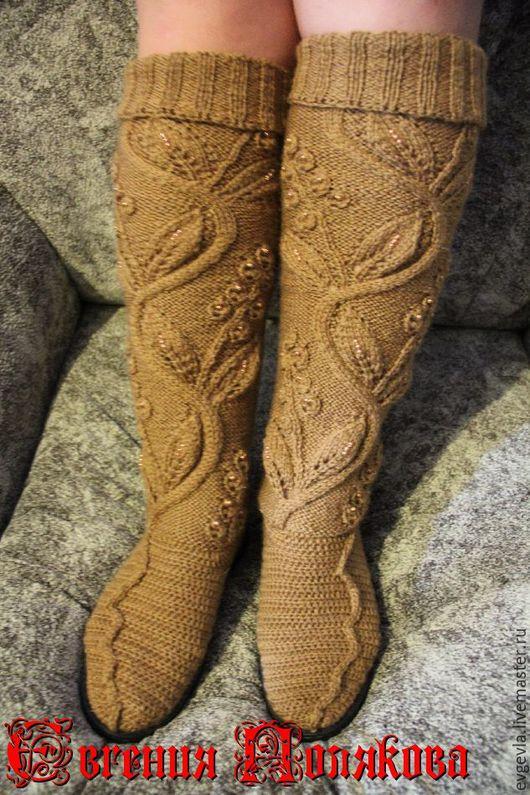 Обувь ручной работы. Ярмарка Мастеров - ручная работа. Купить Сапожки весна-осень. Handmade. Коричневый, сапожки ручной работы