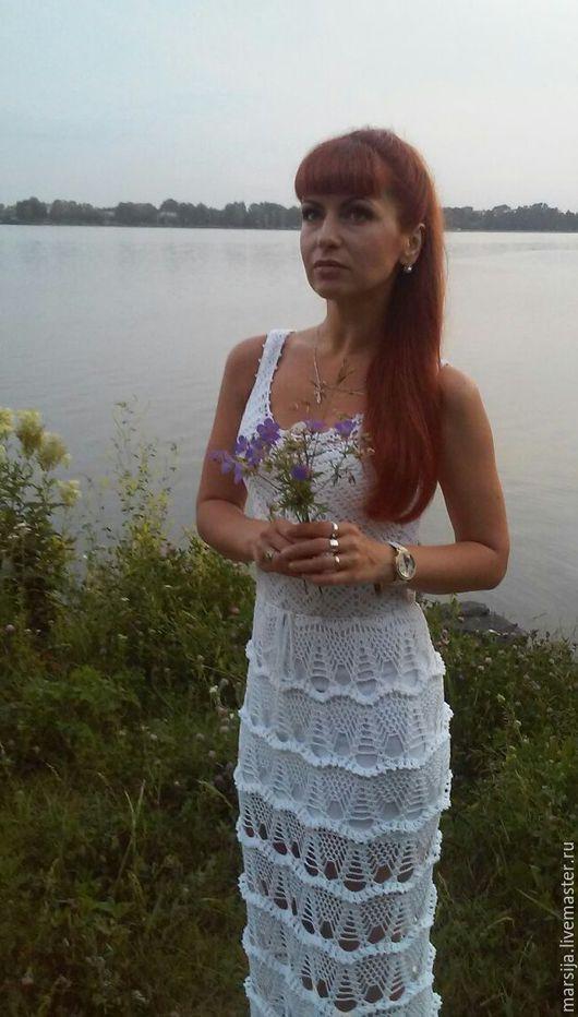 """Платья ручной работы. Ярмарка Мастеров - ручная работа. Купить Платье """"Оливия"""". Handmade. Белый, Платье нарядное, платье крючком"""