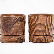 Посуда handmade. Livemaster - original item A glass of whiskey (PAIR) natural wood, Siberian Elm #WN1. Handmade.