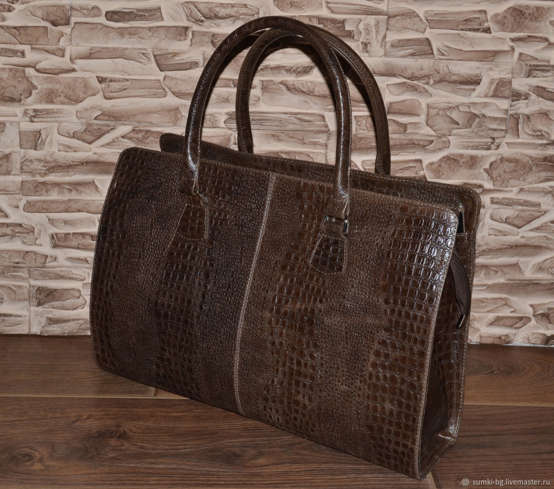 Roomy bag made of genuine leather. Model No. 04, Classic Bag, Bogorodsk,  Фото №1