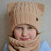 Работы для детей, ручной работы. Ярмарка Мастеров - ручная работа BOXY, комплект из шапки и снуда. Handmade.