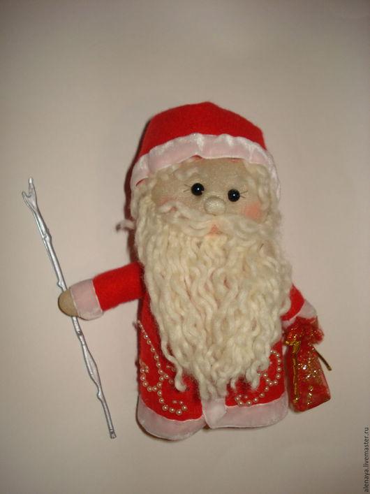 Новый год 2017 ручной работы. Ярмарка Мастеров - ручная работа. Купить Дед Мороз. Сувенирная кукла из носка. Handmade. синтепон
