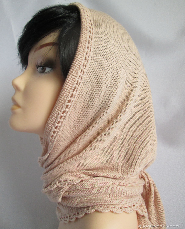 Cotton scarf, beige, Kerchiefs, Moscow,  Фото №1