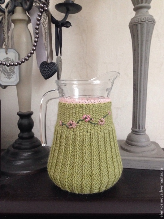 ваза, кувшин, грелка, кувшин для сока, кувшин для компота, кувшин для глинтвейна, ваза для цветов вышивка, винтаж, винтажный стиль, из бабушкиного сундука