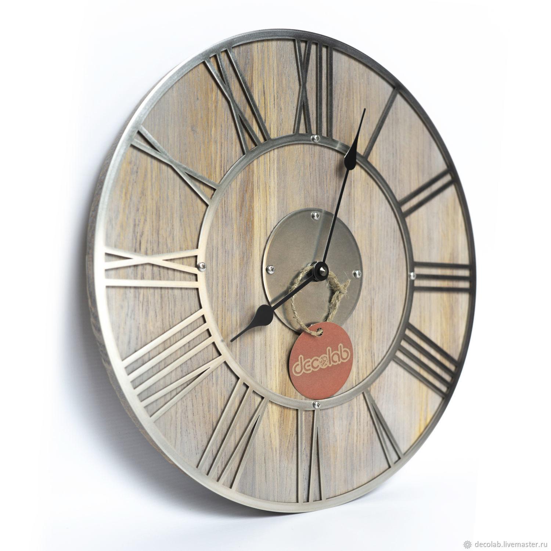 Часы настенные с циферблатом из нержавеющей стали – заказать на Ярмарке Мастеров – I12ENRU | Часы классические, Иваново