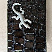 Канцелярские товары handmade. Livemaster - original item Notepad Lizard handmade.Notepad from scratch. decor polymer clay.. Handmade.