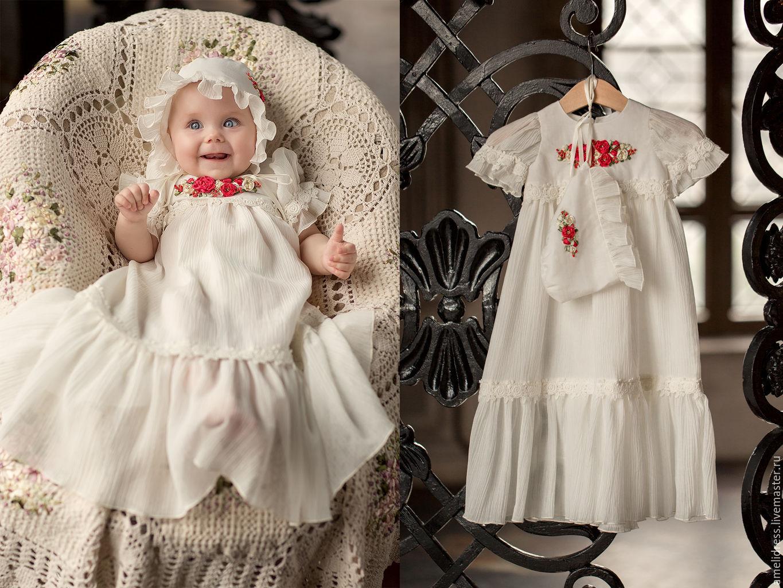 Нарядное крестильное платье для девочки своими руками 10