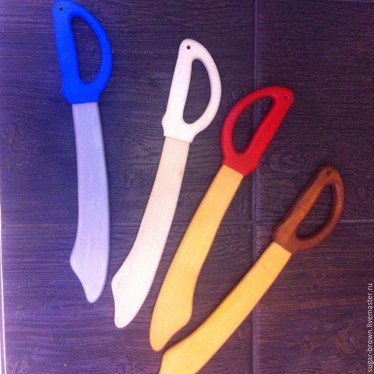 Развивающие игрушки ручной работы. Ярмарка Мастеров - ручная работа. Купить Сабля деревянная. Handmade. Сабля, меч и щит, краски