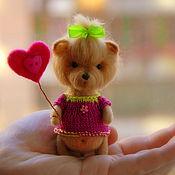 Куклы и игрушки ручной работы. Ярмарка Мастеров - ручная работа Йоркширский терьер, 11 см. Handmade.