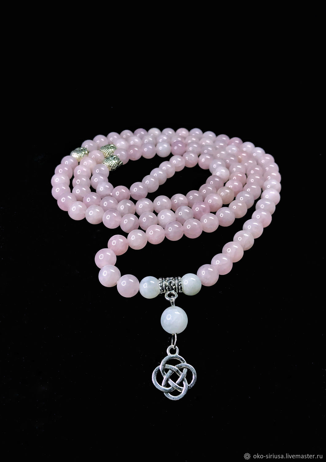 Rosary of Madagascar Rose Quartz 108b, Rosary, Moscow,  Фото №1