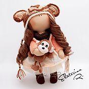 """Куклы и игрушки ручной работы. Ярмарка Мастеров - ручная работа Интерьерная текстильная кукла """"Обезьянка"""". Handmade."""