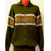 Одежда handmade. Livemaster - original item Knitted jacket with zipper with the Celtic amulet ornament. Handmade.