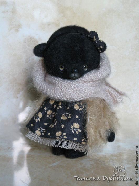 Мишки Тедди ручной работы. Ярмарка Мастеров - ручная работа. Купить Миланья. Handmade. Черный, мохер Германия, стеклянные глазки