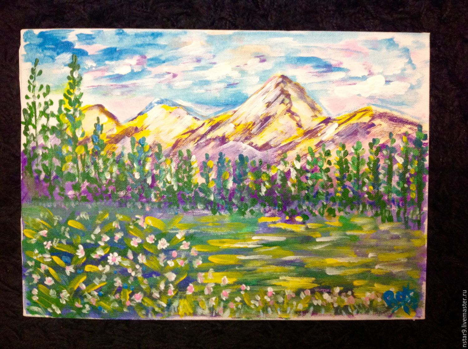 Colorful landscape .Acrylic, Pictures, Moscow,  Фото №1