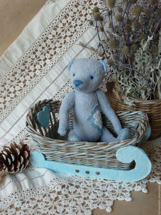 Мишки Тедди ручной работы. Ярмарка Мастеров - ручная работа. Купить По мятному снегу...Мишка-тедди. Handmade. Голубой