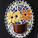 Мозаика из керамики `Цветы`