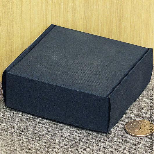Упаковка ручной работы. Ярмарка Мастеров - ручная работа. Купить Коробочка 9х9х3,5 темно--синяя. Handmade. Коробочка