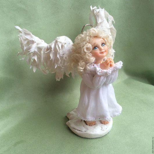 Коллекционные куклы ручной работы. Ярмарка Мастеров - ручная работа. Купить Ангелочек. Handmade. Белый, миниатюра