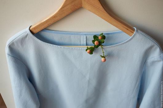 Платья ручной работы. Ярмарка Мастеров - ручная работа. Купить Платье нежного голубого цвета из хлопка. Handmade. Голубой