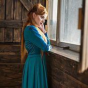 Одежда ручной работы. Ярмарка Мастеров - ручная работа Длинное платье в деловом стиле. Handmade.