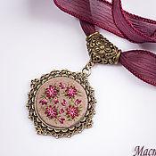 Украшения handmade. Livemaster - original item Embroidered pendant Astrantsiya. Handmade.
