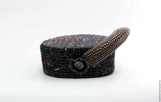 """Шляпы ручной работы. Ярмарка Мастеров - ручная работа. Купить Шляпка-таблетка """"Английская"""". Handmade. Комбинированный, шляпка-таблетка, для фотосессий"""