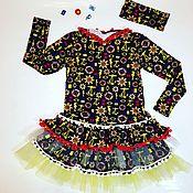 Работы для детей, ручной работы. Ярмарка Мастеров - ручная работа трикотажное платье на девочку Морское. Handmade.
