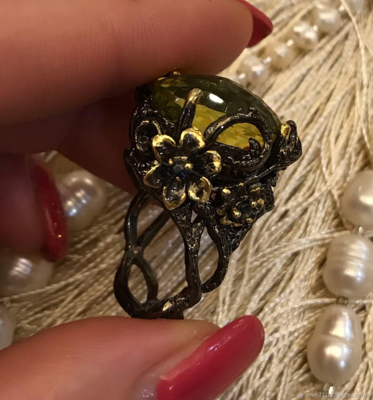 Кольцо с натуральным лимонным кварцем, Кольца, Белгород,  Фото №1