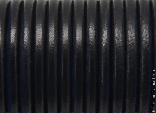 Для украшений ручной работы. Ярмарка Мастеров - ручная работа. Купить Шнур кожаный черный, 5 мм. Handmade.