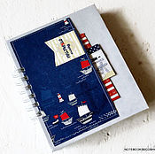 Канцелярские товары handmade. Livemaster - original item Mini-photo Diary of the sea wolf. Handmade.