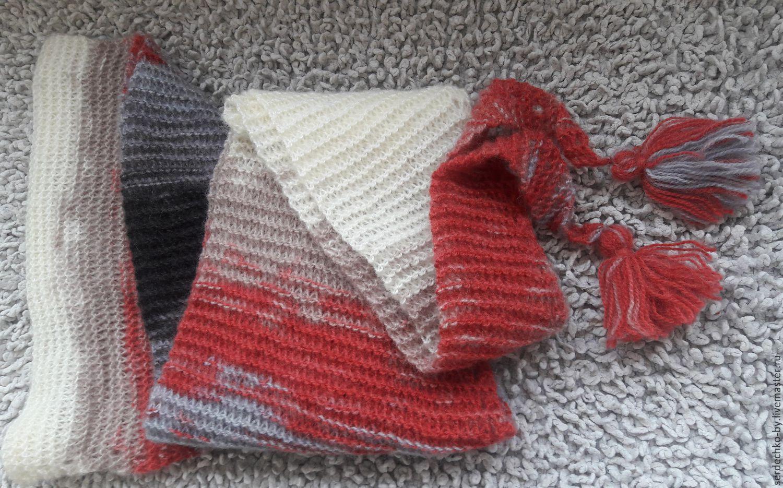 Шарф бактус вязание спицами