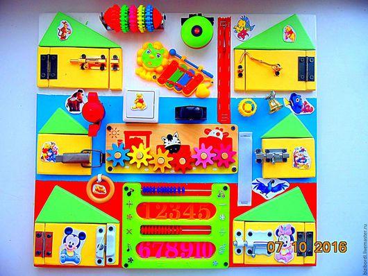 Развивающие игрушки ручной работы. Ярмарка Мастеров - ручная работа. Купить Бизиборд Флаг. Handmade. Комбинированный, Монтессори, бизиборд, подарок