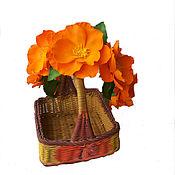 Украшения ручной работы. Ярмарка Мастеров - ручная работа Венок на голову из фоамирана в апельсиновых, оранжевых тонах. Handmade.