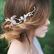 Свадебный салон ручной работы. Ярмарка Мастеров - ручная работа Свадебный венок для волос. Гребень в прическу. Украшение для невесты. Handmade.