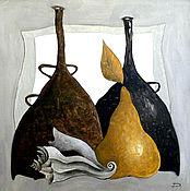 """Картины и панно ручной работы. Ярмарка Мастеров - ручная работа Картина маслом """"Вино и море"""". Handmade."""