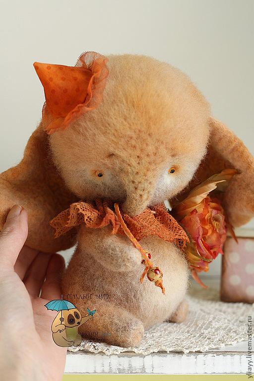 Куклы и игрушки ручной работы. Ярмарка Мастеров - ручная работа. Купить Слон Додо. Handmade. Слон, шелк, рыжий цвет