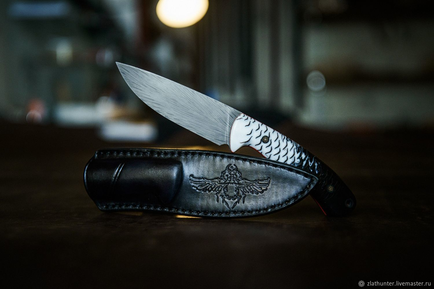 Hunting knife 'Scarab' Damascus steel, Knives, Chrysostom,  Фото №1