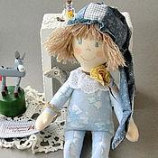 """Куклы и игрушки ручной работы. Ярмарка Мастеров - ручная работа Фланелевая текстильная кукла в кроватку детям от 1 года """"Летнее небо"""". Handmade."""
