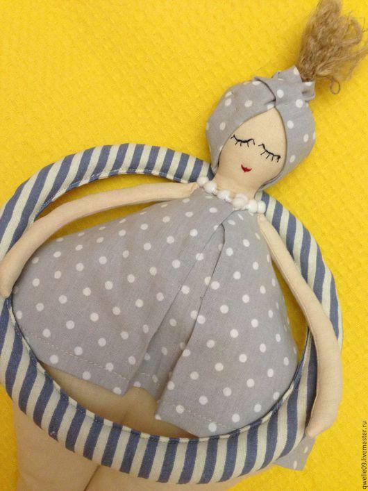 Куклы Тильды ручной работы. Ярмарка Мастеров - ручная работа. Купить Пловчиха 36см интерьерная кукла. Handmade. Серый, лето