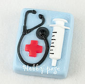 Материалы для творчества handmade. Livemaster - original item Silicone mold for soap Syringe and stethoscope. Handmade.
