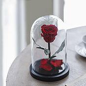 Цветы ручной работы. Ярмарка Мастеров - ручная работа Роза в колбе Mini красная. Handmade.