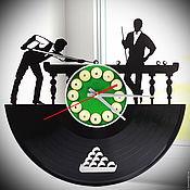 "Для дома и интерьера handmade. Livemaster - original item Wall clock ""Billiards"". Handmade."